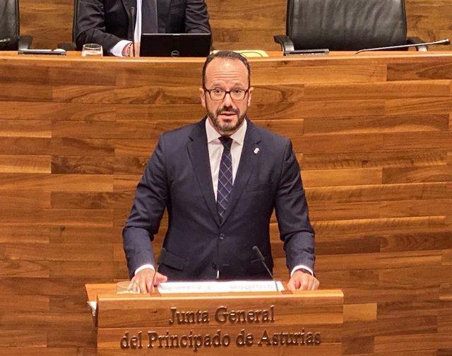 El presidente de Vox Asturias y portavoz de Vox en la Junta General del Principado, Ignacio Blanco.