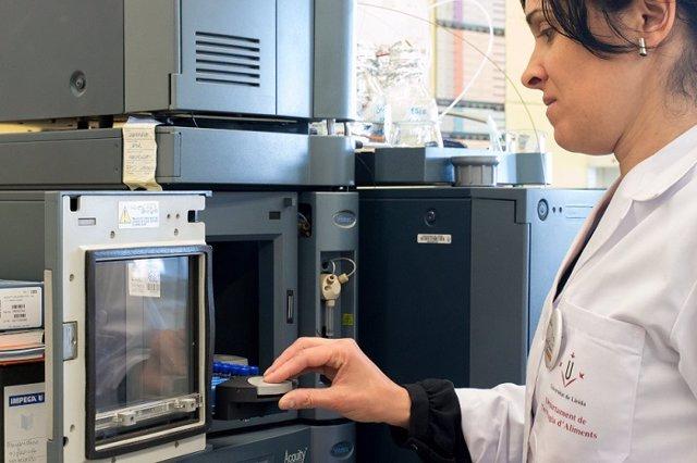 Archivo - Una investigadora al laboratori de tecnologia d'aliments de la UdL (Arxiu)