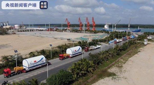 El módulo central de la estación espacial y el cohete portador de carga pesada Long March 5B encargado de lanzarlo han llegado al Centro de Lanzamiento Espacial Wenchang en la provincia de Hainan.