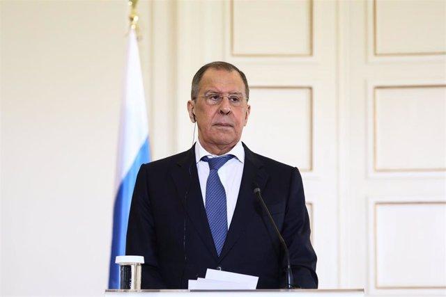 Archivo - El ministro de Exteriores de Rusia, Sergei Lavrov.