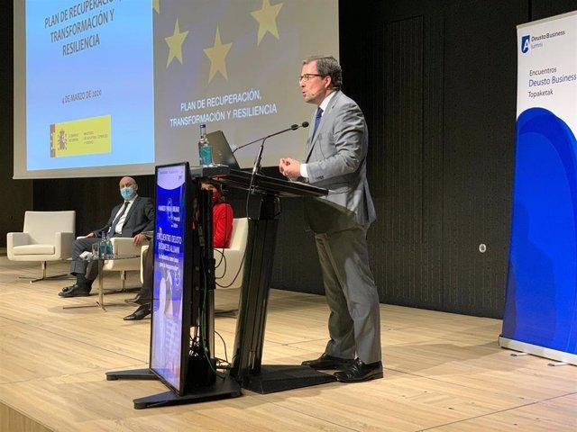 El secretario de Industria y de la Pyme, Raül Blanco, en Bilbao