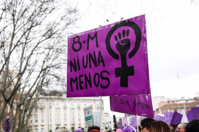 Archivo - Arxiu - Manifestació del 8-M