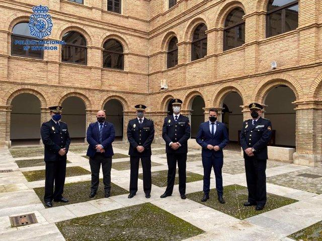 Toma de posesión del nuevo jefe de la comisaría local de Policía Nacional en Tudela