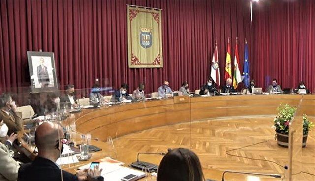 Pleno ordinario del mes de marzo en el Ayuntamiento de Logroño