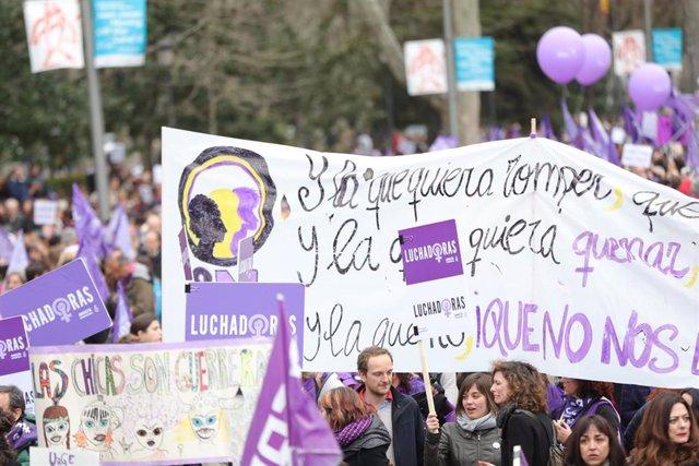 Archivo - Imagen de archivo de la manifestación del 8M de 2020.