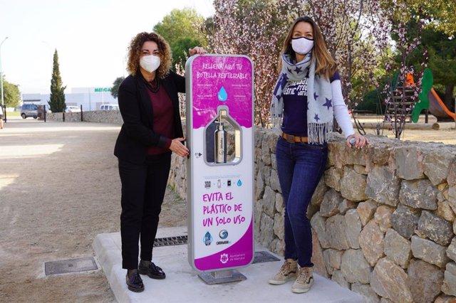 Marratxí instala una fuente de agua filtrada en el parque del Mediterráneo.