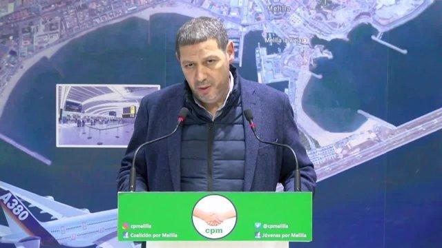 Mustafa Aberchán, durante una comparecencia ante los medios de comunicación