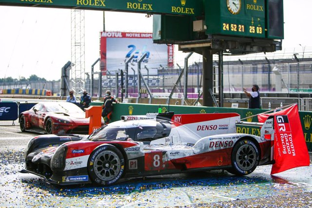 Archivo - Toyota Gazoo Racing, Toyota TS050 Hybrid, winning car during the 2020 24 Hours of Le Mans, 7th round of the 2019-20 FIA World Endurance Championship on the Circuit des 24 Heures du Mans, from September 16 to 20, 2020 in Le Mans, France