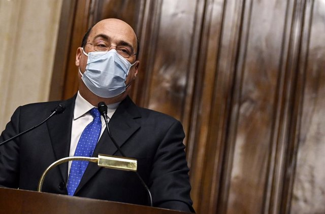 05 February 2021, Italy, Rome: Nicola Zingaretti, secretary of Democratic Party, speaks during a press conference at the Chamber of Deputies after a meeting with designated-prime minister Mario Draghi, for the formation of a new government. Photo: Riccard