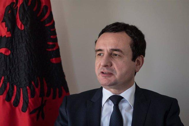 El líder de Vetevendosje (Autodeterminación), Albin Kurti.
