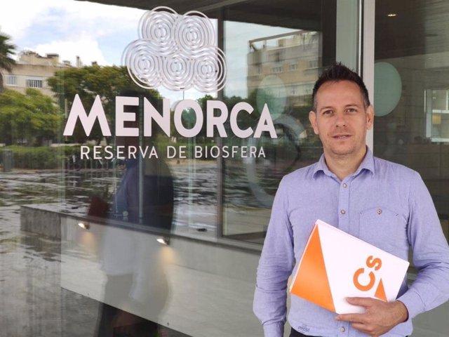 Archivo - El portavoz de Cs en el Consell de Menorca, Eugenio Ayuso
