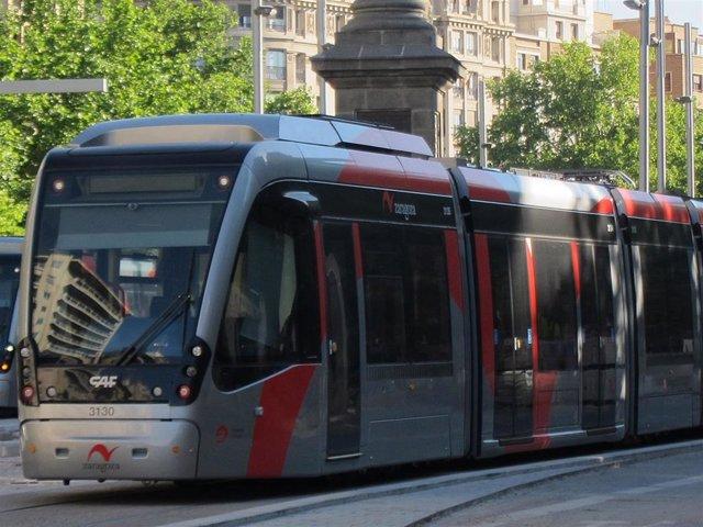 Archivo - Tranvía de Zaragoza.