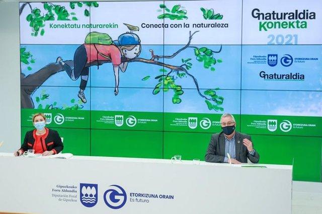 El diputado de Medio Ambiente, José Ignacio Asensio y la directora de Medio Ambiente, Mónica Pedreira