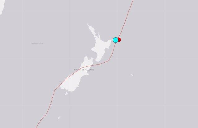 Imatge d'arxiu de l'USGS d'un terratrèmol a Nova Zelanda.