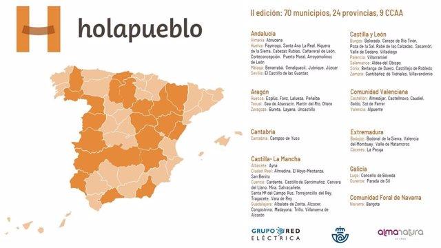 II Edición de Holapueblo, un proyecto del Grupo Red Eléctrica, Correos y AlmaNatura