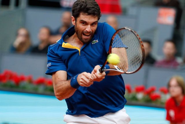 Archivo - Pablo Andujar during the Mutua Madrid Open, Masters 1000, tennis match played at Caja Magica, Madrid, Spain, between Pablo Andujar and Feliciano Lopez, May 7th, 2018.