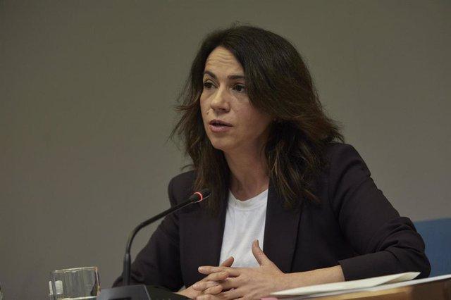 La secretaria de Estado de Sanidad, Silvia Calzón, durante una rueda de prensa para informar sobre el seguimiento de la pandemia por COVID-19, en Madrid (España), a 25 de febrero de 2021.