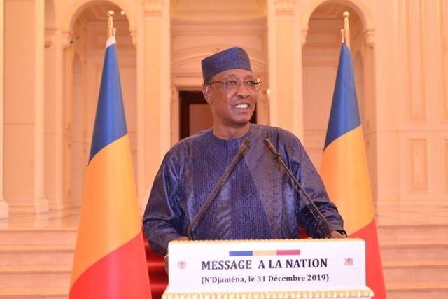 Archivo - El presidente de Chad, Idriss Deby