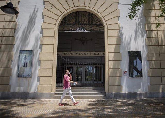 Archivo - Fachada principal del Teatro de la Maestranza