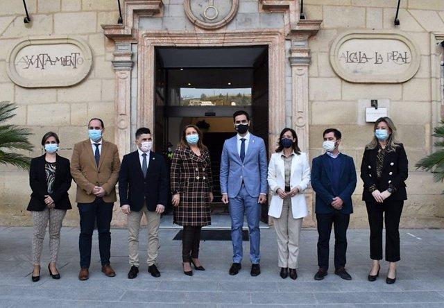 Carmen Crespo, en su visita a Alcalá la Real (Jaén)