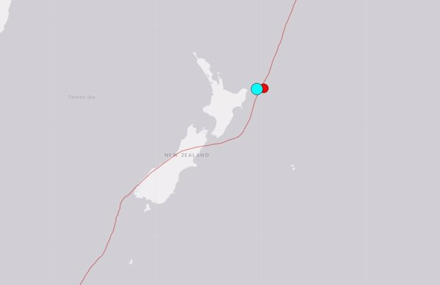 Imagen de archivo del USGS de un terremoto en Nueva Zelanda.