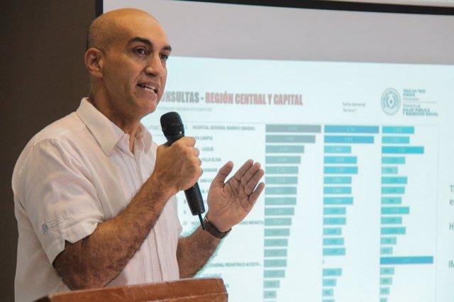 Archivo - El ministro de Salud de Paraguay, Julio Mazzoleni.
