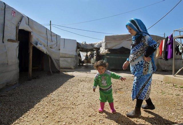Archivo - Campo de refugiados sirios de Mahamara, en el norte de Líbano