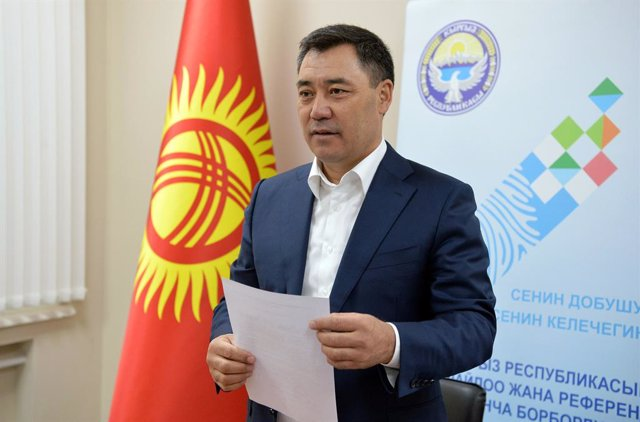 Archivo - Sadir Japarov, presidente de Kirguistán