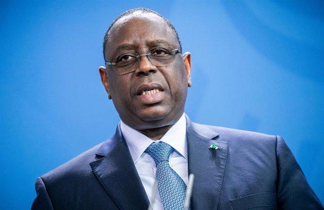 Archivo - El presidente de Senegal, Macky Sall