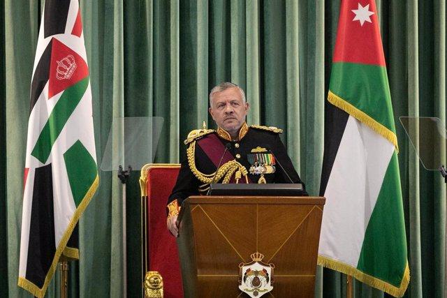 Archivo - El rey de Jordania, Abdalá II