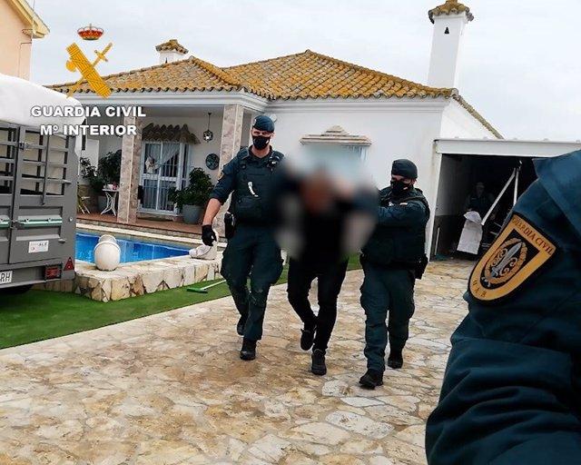 Detenido en Sanlúcar en una vivienda con 2.800 kilos de hachís