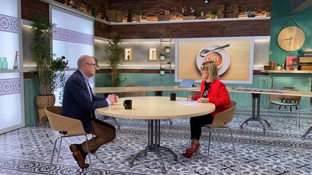 El diputado del PSC en el Congreso José Zaragoza y la periodista Gemma Nierga