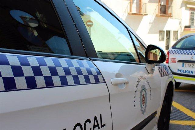 Coches de la Policía Local de Linares.