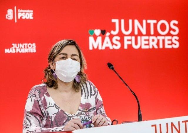 La secretaria de Igualdad del PSOE de Exrtremadura, Amelia Molero.