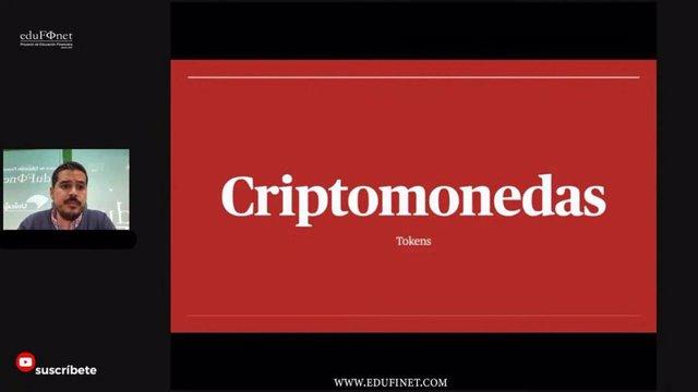 Captura de pantalla del curso sobre el mercado de las criptomonedas.