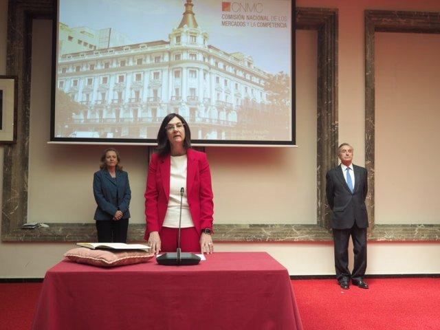 Archivo - Toma de posesión de Cani Fernández como nueva presidenta de la CNMC, a 19 de junio de 2020 en Madrid