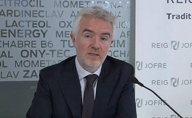El consejero delegado de Reig Jofre, Ignasi Biosca, durante la presentación de resultados.