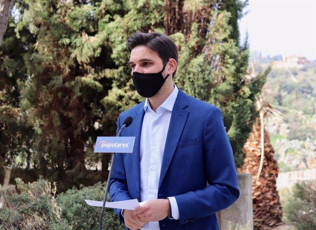 El vicesecretario de Comunicación del PP de Castilla-La Mancha, Santiago Serrano