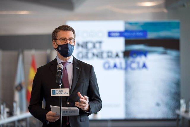 Alberto Núñez Feijóo en un acte sobre els fons europeus Next Generation