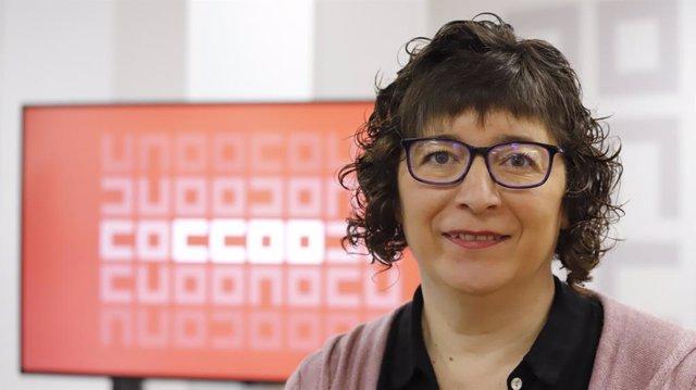 Archivo - La secretaria general de CC.OO. Euskadi, Loli García. Foto de archivo