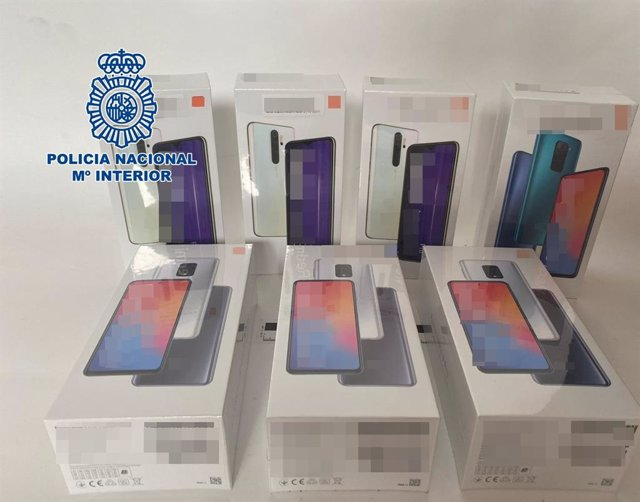 Algunos de los móviles sustraídos