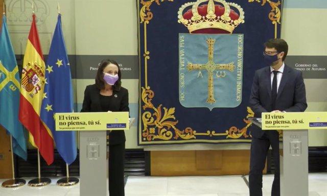 Los consejeros Melania Álvarez y Enrique Fernández