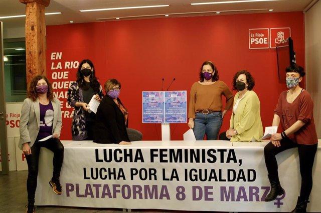 Plataforma 8 de marzo presentan el acto central del Día Internacional de la Mujer