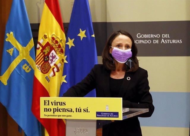 La Consejera De Derechos Sociales Y Bienestar, Y Portavoz Del Gobierno Del Principado De Asturias, Melania Álvarez