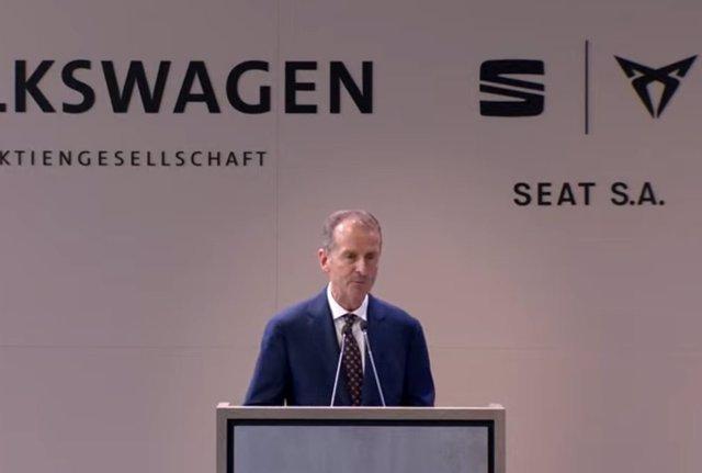 El president del grup Volkswagen, Herbert Diess.