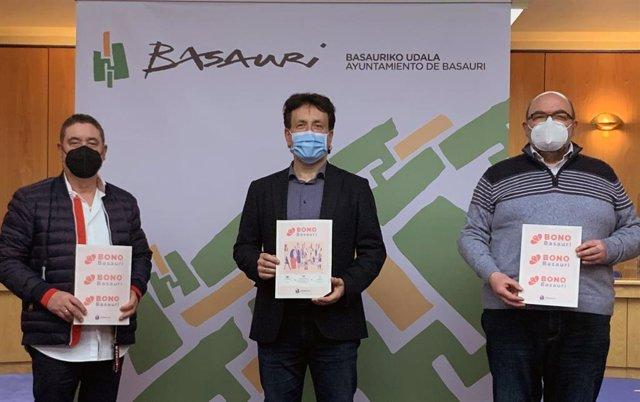 Presentación del Bono Basauri impulsado por el Ayuntamiento