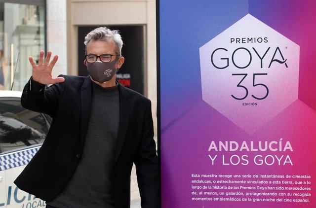 Inauguración de las fotografías expuestas con motivo de la celebración en Málaga de los Premios Goya
