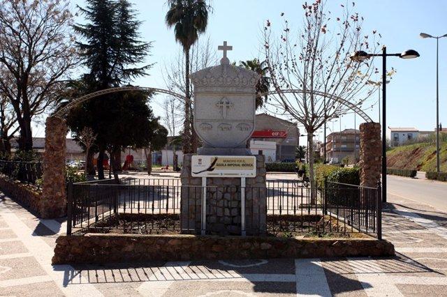 Archivo - Entrada al municipio de Calamonte