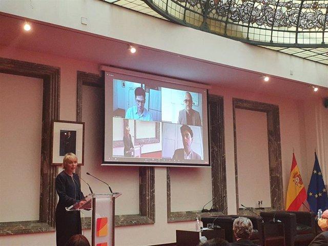 La Secretaria De Estado De Digitalización E Inteligencia Artificial (IA), Carme Artigas, En La Clausura De La Jornada 'Inteligencia Artificial: Retos Y Oportunidades' Organizado Por La CNMC