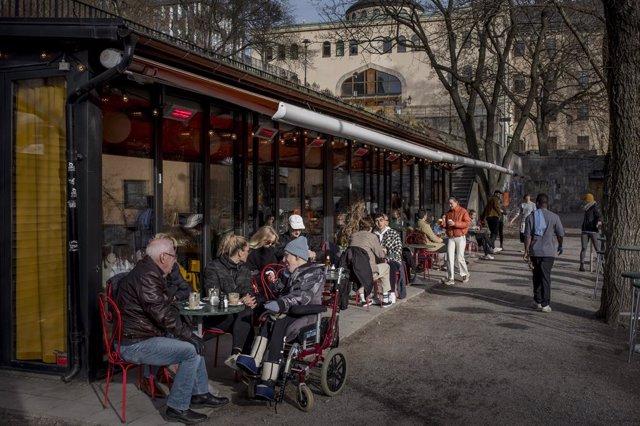 Terraza de una cafetería en Estocolmo